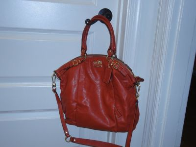 Authentic Orange Coach handbag