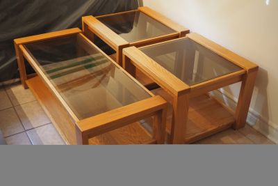 Hardwood Coffee Table & Sides Tables