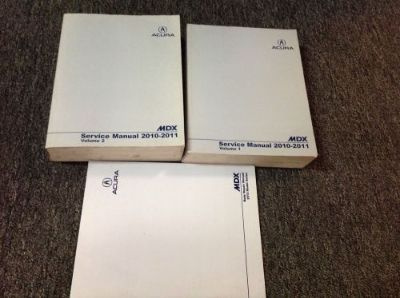 Purchase 2010 2011 Acura MDX Service Repair Shop Workshop Manual Set W Body Book motorcycle in Sterling Heights, Michigan, United States, for US $129.95