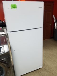 Frigidaire white top and bottom never used