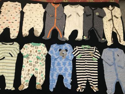 0-3 month Baby boy sleepers