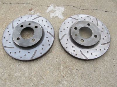 """Buy Slotted Dimpled Front Disc Brake Rotors VW Passat 90-94 256mm (10.1"""") 4 bolt motorcycle in Denver, Colorado, United States"""