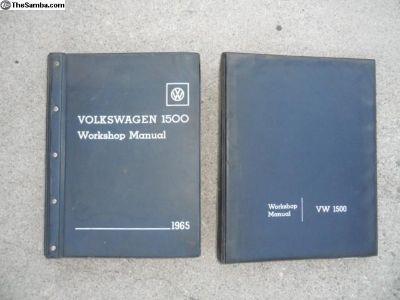 VW 1500 work shop manuals 1 & 2 1965