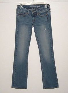 American Eagle distressed slim boot cut denim jeans womens 00 short 26 x 29 00s