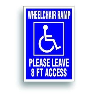 Find Magnetic Sign Extra Large Handicap WHEELCHAIR RAMP 8' disability lift van 408XM motorcycle in Mentor, Ohio, United States, for US $25.98