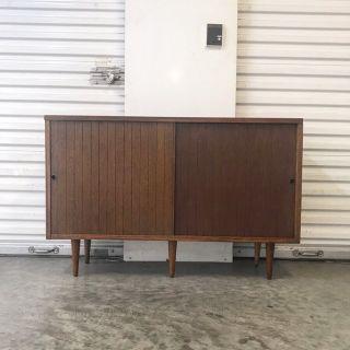 Mid-Century Mini Wood Credenza