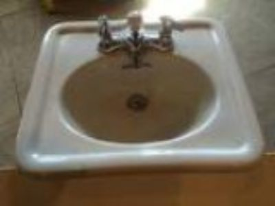 Antique vintage old Crane bathroom sink beautiful vitreous china