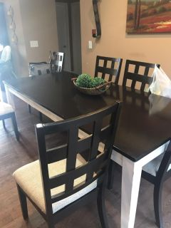 7 piece dining set with leaf