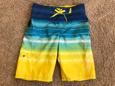 Boys Swimming Trunks, Worn once, my son wanted another color, Size 10/12