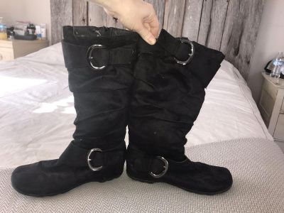 Black suede boots. Size 10 $5