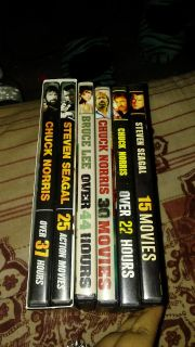 Chuck Norris, Bruce Lee, and Steven Seagal movies