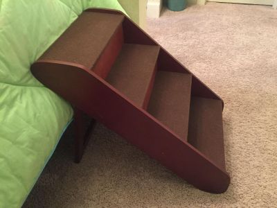 XLARGE WOOD PET STAIRS FOR XTRA HIGH SURFACES