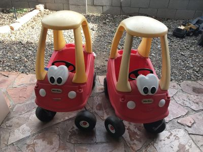 Little tikes coupe cars . price is ea