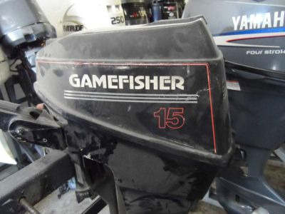 Purchase 90's 15HP 15 HP GAMEFISHER OUTBOARD MOTOR motorcycle in West Palm Beach, Florida, US, for US $100.00