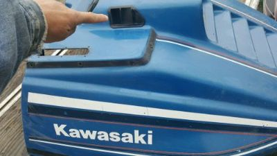 Purchase Vintage Kawasaki snowmobile Drifter 340 440 Fan Cooled Hood Vents motorcycle in Washington, Maine, United States, for US $15.00