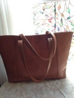 Noonday Collection Modern Leather Tote Bag