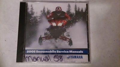 Purchase 05 Yamaha Snowmobile PC Disc Service Manual *NEW* motorcycle in Richlandtown, Pennsylvania, US, for US $19.99