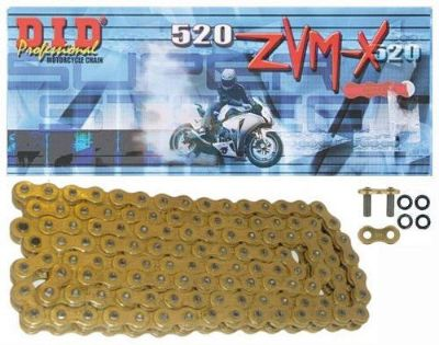 Purchase D.I.D Super Street X-Ring 520 ZVMX Chain 120 Links Gold motorcycle in Hinckley, Ohio, United States, for US $170.85