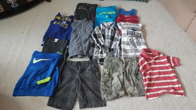 Boys size 7/8 Hoodies shirts and shorts