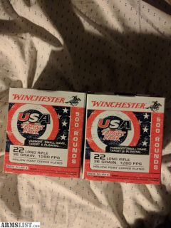 For Sale: 1,000rds 22lr