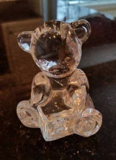 "Waterford Crystal Teddy Bear Figurine Made in Ireland 3"" tall"