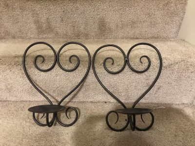 Set of hanging candle holders