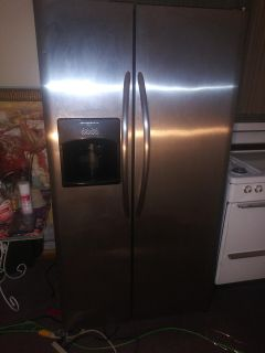 Fridgidaire stainless side by side refrigerator