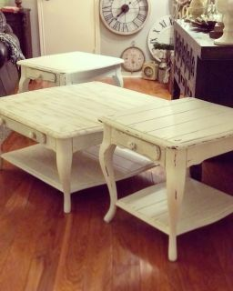 Set of Vintage Coffee Table & End Tables