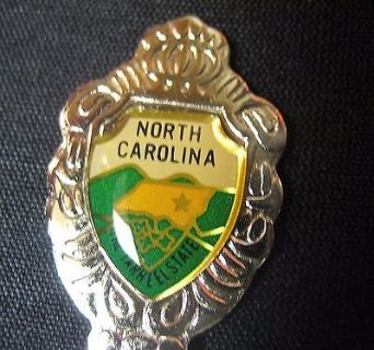 North carolina vacation usa state collector souvenir spoon travel