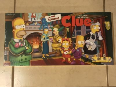 The Simpsons Clue Board Game EUC Complete