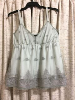 Torrid Embroidered Overlay Babydoll Cami