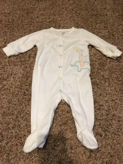 Carter 6 month terry cloth footed pjs