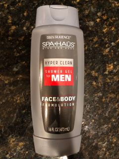 Brand New Never Opened Men s Spa Hays Hyper Clean Shower Gel. Face & Body