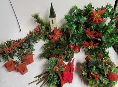 Lot of 1970's Christmas Decorations