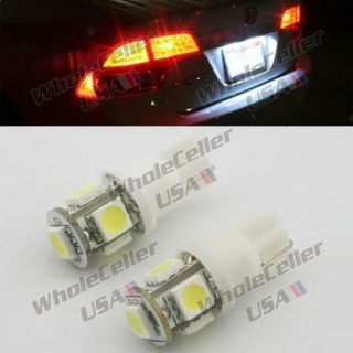 Find 2pcs T10 5-5050-SMD License Plate White 161 3652 LED Car Light Lamp Bulb motorcycle in Milpitas, California, United States