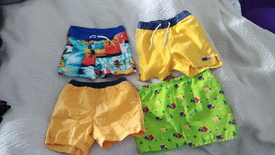 Swim trunks ranging from 9 months to 24 months