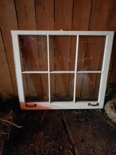 Antique 6 pane window from old church