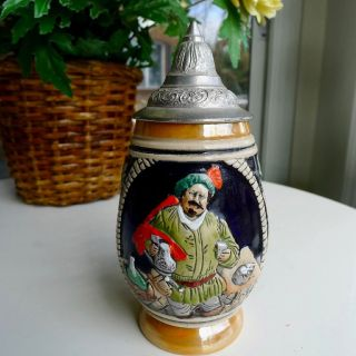 Small West German DBGM Lidded Beer Stein