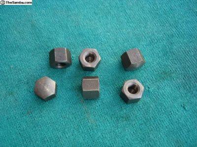 6 Original Ger. 6 MM Cap Nuts