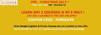 HURRY UP LEARN ANY 3 SAP COURSES @ 99 $ ( OFFER VALID from 19th - 23rd DEC'16 only - http://www.selflearningsap.com