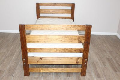 Twin Wood Bed With Mattress NOW available!