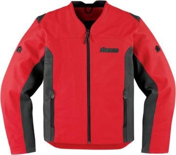 Buy Icon Device Red Leather Jacket 2013 Motorcycle motorcycle in Ashton, Illinois, US, for US $425.00