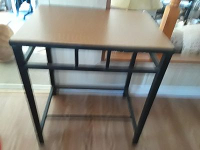 Cute wood and metal side table
