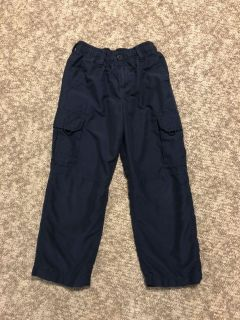 Navy blue pants, size 6/7 (small), great condition