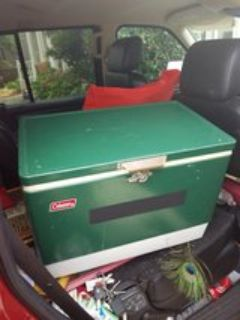 vtg Coleman metal cooler ice chest