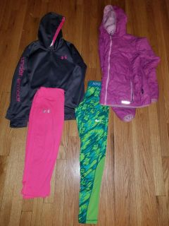 Girls xl.lot. under armour Nike and ll.bean