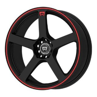 "Find Motegi Racing MR116 Matte Black Finish Wheel with Red Accents 15x6.5""/5x100mm motorcycle in Florence, Kentucky, US, for US $55.79"