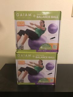 Gaian 55 total balance ball with workout dvd and pump