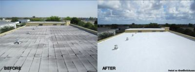 Commercial & Industrial Roofing, Metal, TPO, Sunshield coating