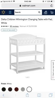 ISO WHITE CHANGING TABLE